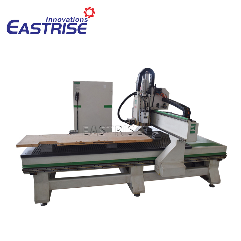 1325 1530 Wood Door ATC Cnc Router with Horizontal Spindle Head for Door Lockhole
